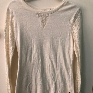 Prana lace long sleeved top